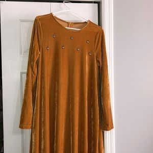 Dresses & Skirts - Velvet floor length dress.